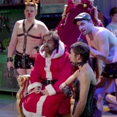 André Manoukian et la grosse bûche de Noël des Recettes Pompettes