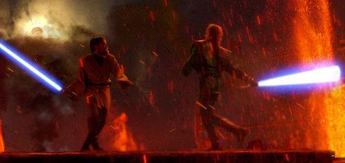 99 - Comme le pourcentage tourné sur fond vert pour Star Wars, épisode III : La Revanche des Sith