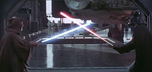 """1977  - comme l'année de sortie de """"Star Wars, épisode IV : Un nouvel espoir"""" de  George Lucas avec Mark Hamill, Carrie Fisher et Harrison Ford"""