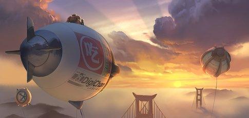 """2014 - Comme l'année de sortie des """"Nouveaux Héros"""" (""""Big Hero 6"""") des studios Disney"""